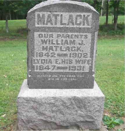MATLACK, WILLIAM J. - Meigs County, Ohio   WILLIAM J. MATLACK - Ohio Gravestone Photos