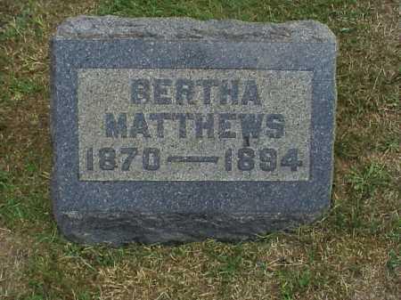 MATTHEWS, BERTHA - Meigs County, Ohio | BERTHA MATTHEWS - Ohio Gravestone Photos