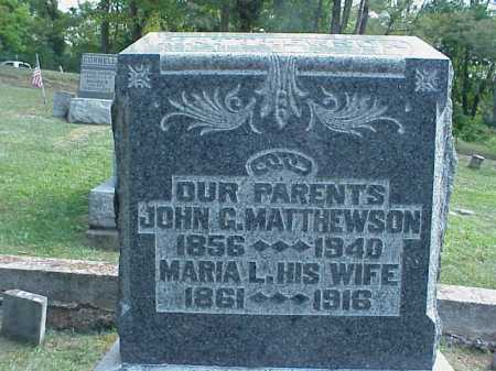 MATTHEWSON, JOHN - Meigs County, Ohio | JOHN MATTHEWSON - Ohio Gravestone Photos