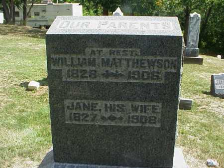 MATTHEWSON, WILLIAM - Meigs County, Ohio | WILLIAM MATTHEWSON - Ohio Gravestone Photos