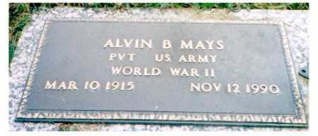 MAYS, ALVIN B. - Meigs County, Ohio | ALVIN B. MAYS - Ohio Gravestone Photos