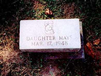 MAYS, DAUGHTER - Meigs County, Ohio | DAUGHTER MAYS - Ohio Gravestone Photos