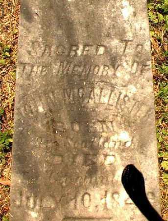 MCALLISTER, JOHN - Meigs County, Ohio   JOHN MCALLISTER - Ohio Gravestone Photos