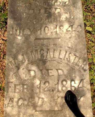 MCALLISTER, W.J. - Meigs County, Ohio | W.J. MCALLISTER - Ohio Gravestone Photos