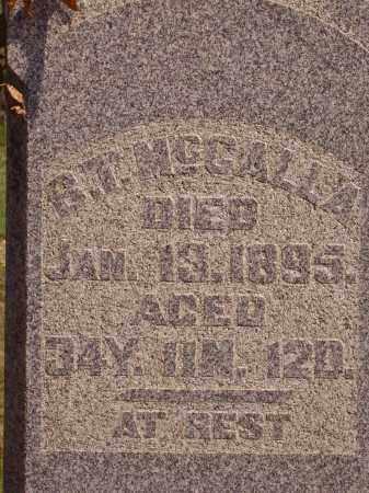 MCCALLA, B. T.  CLOSE VIEW - Meigs County, Ohio   B. T.  CLOSE VIEW MCCALLA - Ohio Gravestone Photos