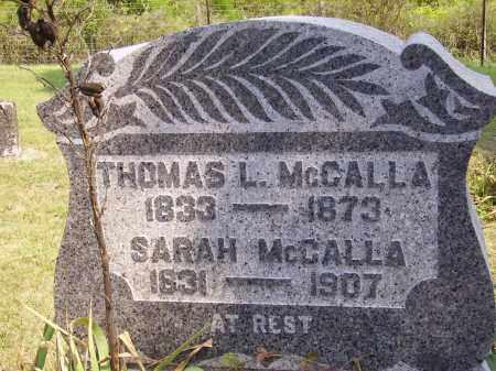 MCCALLA, SARAH - Meigs County, Ohio | SARAH MCCALLA - Ohio Gravestone Photos