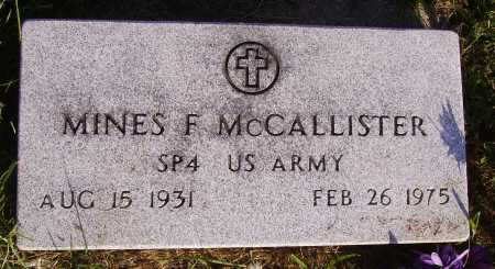 MCCALLISTER, MINES F. - MILITARY - Meigs County, Ohio | MINES F. - MILITARY MCCALLISTER - Ohio Gravestone Photos