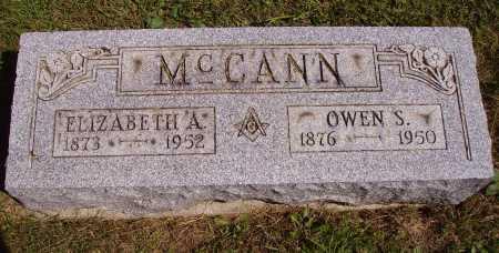 MCCANN, ELIZABETH A. - Meigs County, Ohio | ELIZABETH A. MCCANN - Ohio Gravestone Photos