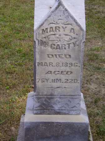 MCCARTY, MARY A. - Meigs County, Ohio | MARY A. MCCARTY - Ohio Gravestone Photos