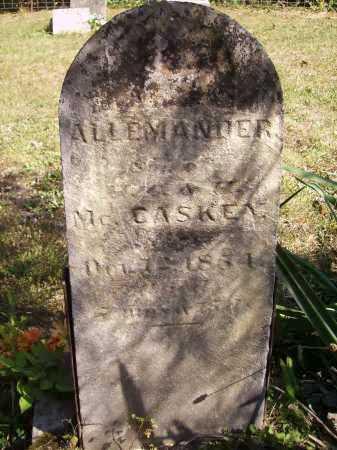 MCCASKEY, ALLEMANDER - Meigs County, Ohio   ALLEMANDER MCCASKEY - Ohio Gravestone Photos