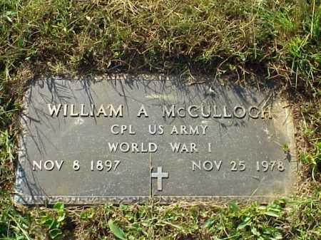 MCCULLOCH, WILLIAM A. - MILITARY - Meigs County, Ohio | WILLIAM A. - MILITARY MCCULLOCH - Ohio Gravestone Photos