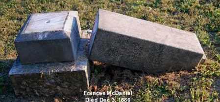 MCDANIEL, FRANCES - Meigs County, Ohio | FRANCES MCDANIEL - Ohio Gravestone Photos