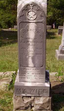 MCDONALD, MARY JANE - Meigs County, Ohio | MARY JANE MCDONALD - Ohio Gravestone Photos