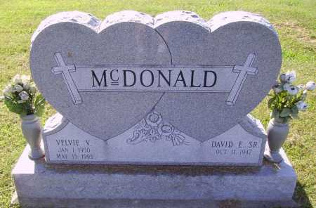 MCDONALD, VELVIE  VIRGINIA - Meigs County, Ohio | VELVIE  VIRGINIA MCDONALD - Ohio Gravestone Photos