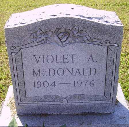 MCDONALD, VIOLET A. - Meigs County, Ohio | VIOLET A. MCDONALD - Ohio Gravestone Photos