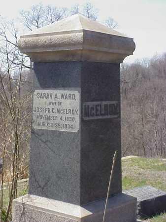 WARD MCELROY, SARAH A. WARD - Meigs County, Ohio | SARAH A. WARD WARD MCELROY - Ohio Gravestone Photos