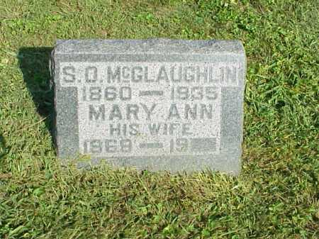 MCGLAUGHLIN, S.O. - Meigs County, Ohio | S.O. MCGLAUGHLIN - Ohio Gravestone Photos