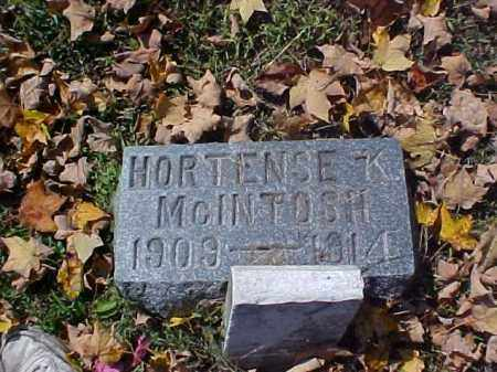 MCINTOSH, HORTENSE K. - Meigs County, Ohio | HORTENSE K. MCINTOSH - Ohio Gravestone Photos
