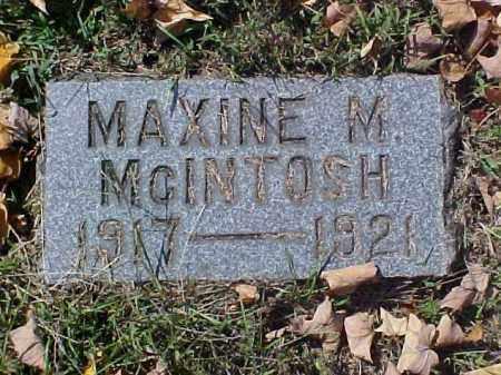 MCINTOSH, MAXINE M. - Meigs County, Ohio | MAXINE M. MCINTOSH - Ohio Gravestone Photos