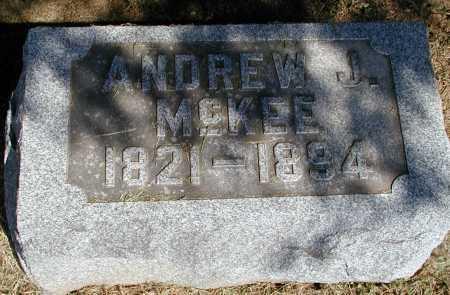 MCKEE, ANDREW J. - Meigs County, Ohio | ANDREW J. MCKEE - Ohio Gravestone Photos