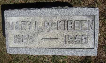 MCKIBBEN, MARY L. - Meigs County, Ohio | MARY L. MCKIBBEN - Ohio Gravestone Photos