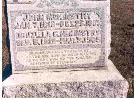 MCKINSTRY, DRUZILLA - Meigs County, Ohio | DRUZILLA MCKINSTRY - Ohio Gravestone Photos