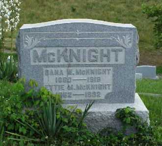 MCKNIGHT, ETTIE M. - Meigs County, Ohio   ETTIE M. MCKNIGHT - Ohio Gravestone Photos