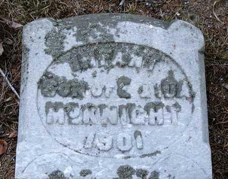 MCKNIGHT, INFANT SON - Meigs County, Ohio | INFANT SON MCKNIGHT - Ohio Gravestone Photos