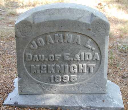 MCKNIGHT, JOANNA L. - Meigs County, Ohio   JOANNA L. MCKNIGHT - Ohio Gravestone Photos