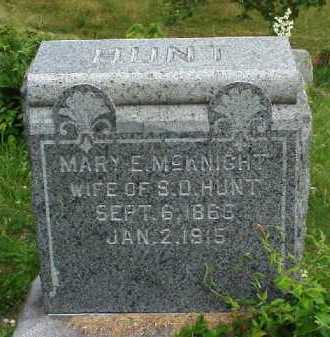 HUNT, MARY E. MCKINGHT - Meigs County, Ohio   MARY E. MCKINGHT HUNT - Ohio Gravestone Photos