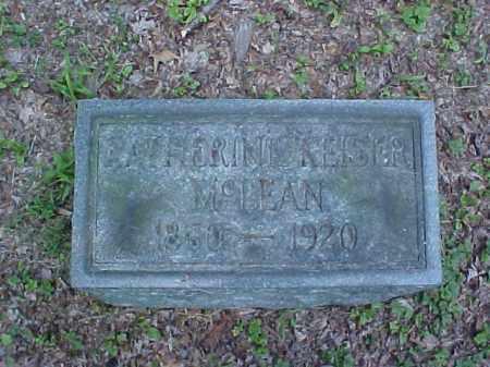 KEISER MCLEAN, KATHERINE - Meigs County, Ohio | KATHERINE KEISER MCLEAN - Ohio Gravestone Photos