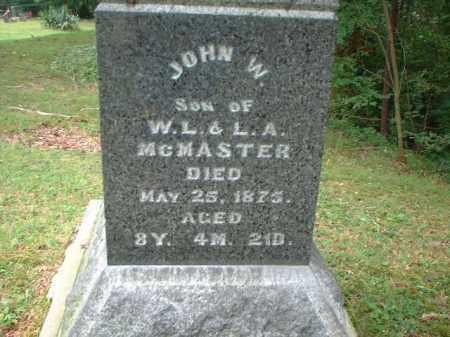 MCMASTER, JOHN W. - Meigs County, Ohio | JOHN W. MCMASTER - Ohio Gravestone Photos