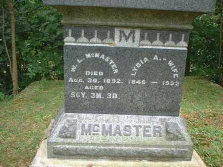 MCMASTER, W.L. - Meigs County, Ohio | W.L. MCMASTER - Ohio Gravestone Photos