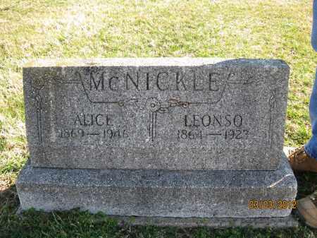 MCNICKLE, ALICE - Meigs County, Ohio | ALICE MCNICKLE - Ohio Gravestone Photos