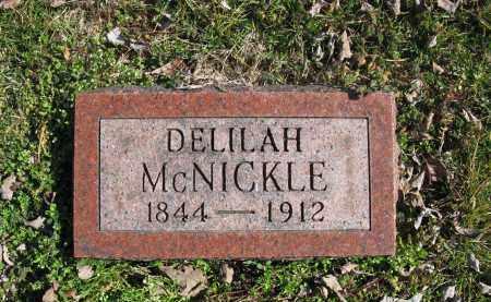 MCNICKLE, DELILAH - Meigs County, Ohio | DELILAH MCNICKLE - Ohio Gravestone Photos