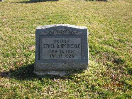 MCNICKLE, ETHEL D - Meigs County, Ohio | ETHEL D MCNICKLE - Ohio Gravestone Photos