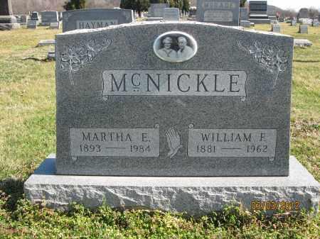 MCNICKLE, MARTHA E - Meigs County, Ohio | MARTHA E MCNICKLE - Ohio Gravestone Photos