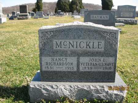 RICHARDSON MCNICKLE, NANCY - Meigs County, Ohio | NANCY RICHARDSON MCNICKLE - Ohio Gravestone Photos