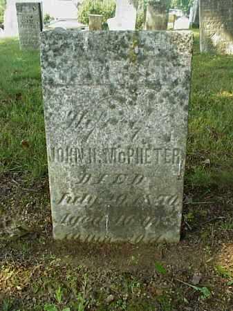 MCPHETER, MARTHA - Meigs County, Ohio | MARTHA MCPHETER - Ohio Gravestone Photos