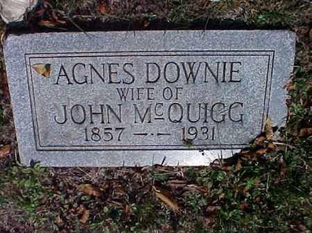 MCQUIGG, AGNES - Meigs County, Ohio   AGNES MCQUIGG - Ohio Gravestone Photos