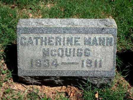MANN MCQUIGG, CATHERINE - Meigs County, Ohio | CATHERINE MANN MCQUIGG - Ohio Gravestone Photos