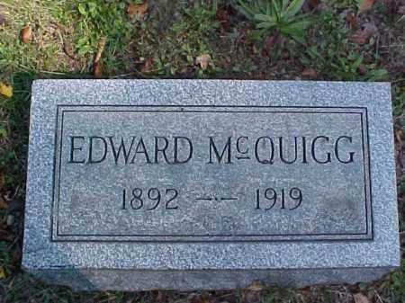 MCQUIGG, EDWARD - Meigs County, Ohio   EDWARD MCQUIGG - Ohio Gravestone Photos