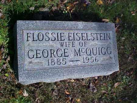 MCQUIGG, FLOSSIE - Meigs County, Ohio   FLOSSIE MCQUIGG - Ohio Gravestone Photos