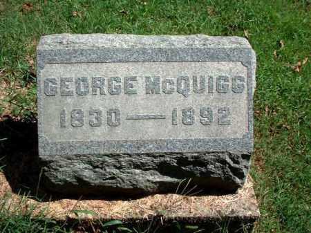 MCQUIGG, GEORGE - Meigs County, Ohio | GEORGE MCQUIGG - Ohio Gravestone Photos