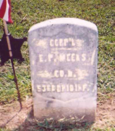 MEEKS, E. P. - Meigs County, Ohio | E. P. MEEKS - Ohio Gravestone Photos