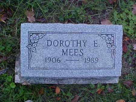 MEES, DOROTHY E. - Meigs County, Ohio   DOROTHY E. MEES - Ohio Gravestone Photos