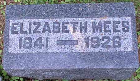 MEES, ELIZABETH - Meigs County, Ohio | ELIZABETH MEES - Ohio Gravestone Photos