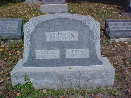 MEES, KATIE E. - Meigs County, Ohio | KATIE E. MEES - Ohio Gravestone Photos