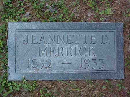 DOWNIE MERRICK, JEANNETTE C. - Meigs County, Ohio | JEANNETTE C. DOWNIE MERRICK - Ohio Gravestone Photos