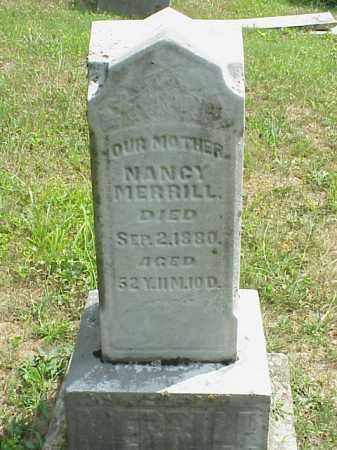 MERRILL, NANCY - Meigs County, Ohio | NANCY MERRILL - Ohio Gravestone Photos